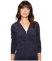 Juicy Couture Robertson Microterry Jacket Regal Women's Coat Navy