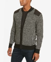 Kenneth Cole New York Men's Marled Bomber Jacket Bright Grn