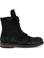 Ann Demeulemeester Suede Creased Boots Black