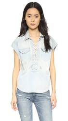 Blank Lace Up Tunic Top Left Field
