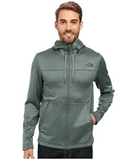 The North Face Schenley Hoodie Duck Green Heather Men's Sweatshirt Blue