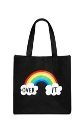 Forever 21 Over It Graphic Tote Bag Black Multi