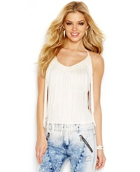 Guess Fringe Detail Halter Blouse Scuffy