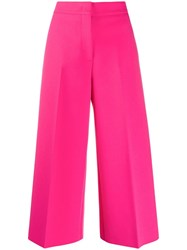 Msgm Cropped Trousers Pink