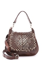 Campomaggi Studded Medium Cross Body Bag Moro