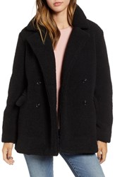 Bp. Textured Double Breasted Coat Black