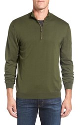 Ledbury Men's Half Zip Cotton Sweater Olive
