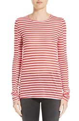 Rag And Bone Women's Arrow Stripe Tee Blanc Red