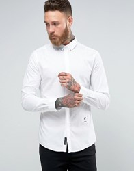 Religion Smart Shirt With Stretch And Collar Skull White