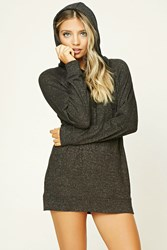 Forever 21 Youre Rad Longline Pj Hoodie Charcoal Cream