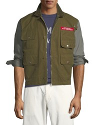 Human Made Colorblock Twill Hunting Jacket Olive