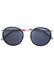 Linda Farrow Round Framed Sunglasses Black
