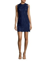 Laundry By Shelli Segal Lace Open Back Cocktail Dress Midnight