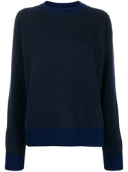 Sofie D'hoore Knit Colour Combo Sweater Blue