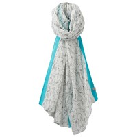 Joules Wensley Hare Print Scarf Grey Teal