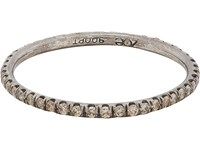 Zoe Women's Champagne Diamond And Oxidized Platinum Eternity Band No Color