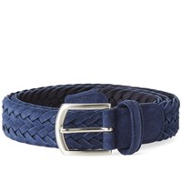 Andersons Anderson's Woven Suede Belt Blue