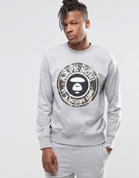 Aape By A Bathing Ape Crew Neck Sweatshirt Grey