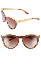 Women's Freida Rothman 'Daphne' 56Mm Cat Eye Sunglasses Tortoise