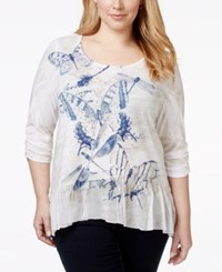 Styleandco. Style And Co. Plus Size Embellished Ruched Sleeve Top Only At Macy's