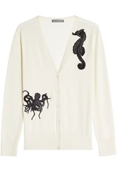 Alexander Mcqueen Embellished Cashmere And Silk Cardigan