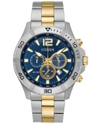 Citizen Men's Chronograph Two Tone Stainless Steel Bracelet Watch 44Mm An8124 56L A Macy's Exclusive Two Tone