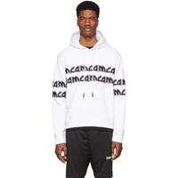 Mcq By Alexander Mcqueen White Metal Repeat Logo Hoodie