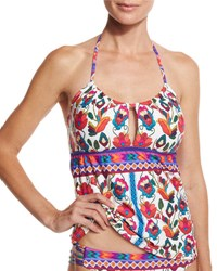 Nanette Lepore Antigua Honey Tankini Swim Top Multi