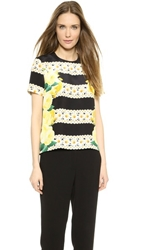 Mother Of Pearl Juno Silk Blouse Yellow Rose
