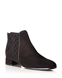Aquatalia By Marvin K Aquatalia Weatherproof Lacey Quilted Suede Booties Black
