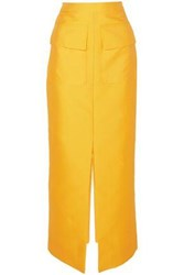 Merchant Archive Satin Twill Maxi Skirt Yellow