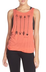 Women's Pink Lotus 'Revamp' Open Back Muscle Tank