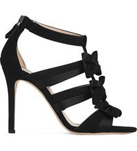 Lk Bennett Issie Suede Open Toe Sandals Bla Black