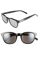 Men's Randolph Engineering 'Ashby' 50Mm Sunglasses Black Grey Flash Mirror