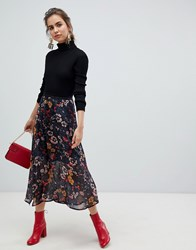 B.Young Floral Midi Skirt Multi