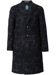 Guild Prime Jacquard Single Breasted Coat Black