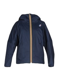 K Way Down Jackets Dark Blue