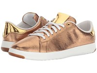 Cole Haan Grandpro Tennis Ruggine Glitter Metallic Gold Optic White Lace Up Casual Shoes