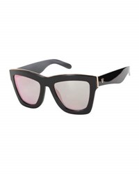 Valley Eyewear Db Square Mirrored Sunglasses Black Rose Black Red