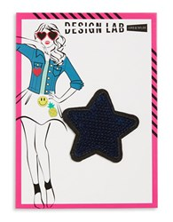Design Lab Lord And Taylor Sequined Star Patch Blue