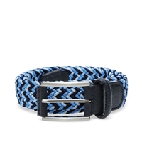 Andersons Anderson's Woven Textile Belt Navy Sky And Ice