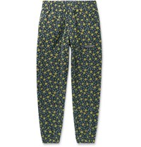Martine Rose Slim Fit Tapered Printed Fleece Track Pants Gray