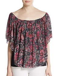 Sweet Pea Python Print Off The Shoulder Top
