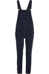 Current Elliott The Shirley Stretch Corduroy Overalls Midnight Blue