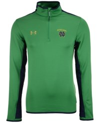 Under Armour Men's Notre Dame Fighting Irish Smu Quarter Zip Pullover Green Navy