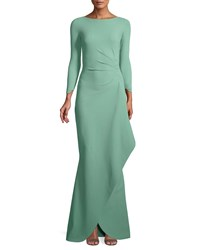 La Petite Robe Di Chiara Boni Galin Mermaid Gown W Side Drape Sage
