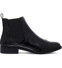 Miss Kg Sneek Brogue Patent Boots Black