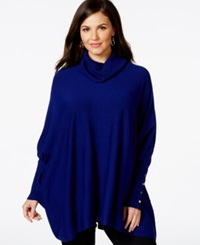 Alfani Plus Size Turtleneck Poncho Only At Macy's French Plum