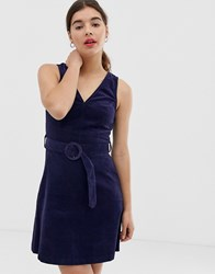 New Look Pinny In Cord Navy