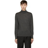 Paul Smith Ps By Grey Wool Turtleneck